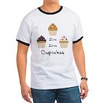 Live Love Cupcakes Ringer T
