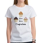 Live Love Cupcakes Women's T-Shirt