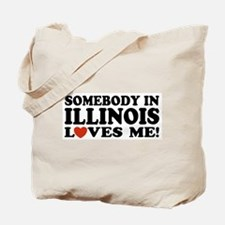 Somebody In Illinois Loves Me Tote Bag