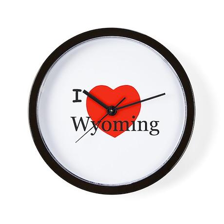 I Love Wyoming Wall Clock