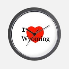 I Love Wyoming Wall Clock
