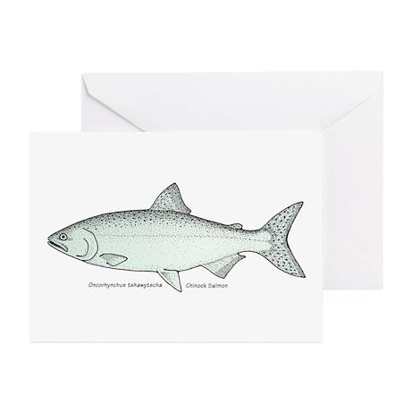 Chinook Salmon Greeting Cards (Pk of 10)