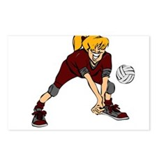 VOLLEYBALL PLAYER {7 blonde} Postcards (Package of