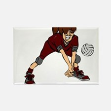 VOLLEYBALL PLAYER {7} : crims Rectangle Magnet