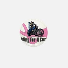 Riding For A Cure Mini Button