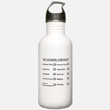 Vet School Checklist Water Bottle