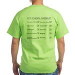 Vet School Checklist Green T-Shirt