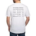Vet School Checklist Fitted T-Shirt