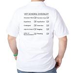 Vet School Checklist Golf Shirt