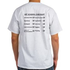 Vet School Checklist T-Shirt