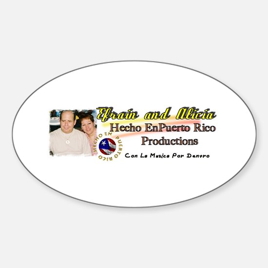 Hecho En Puerto Rico Productions Oval Decal