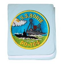 USS BORIE baby blanket