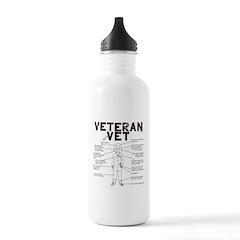 Veteran Vet Female Water Bottle