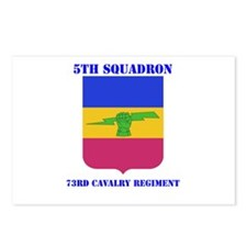 DUI - 5th Sqdrn - 73rd Cavalry Regt with Text Post