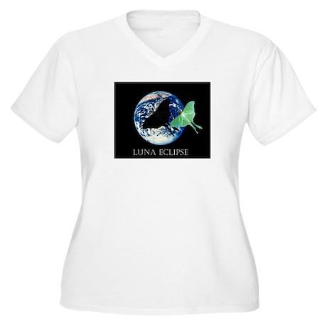 Luna Eclipse Women's Plus Size V-Neck T-Shirt