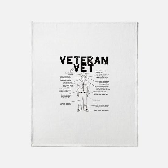 Veteran Vet Male Throw Blanket