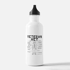 Veteran Vet Male Water Bottle