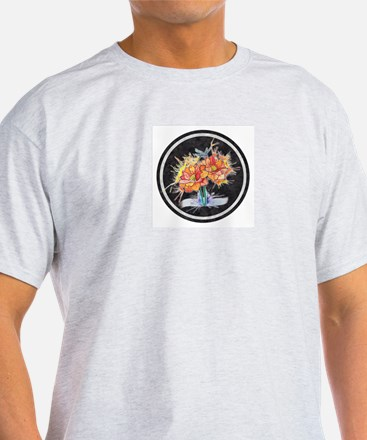 Watercolor Dragonfly Lotus Ash Grey T-Shirt