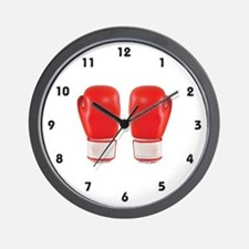 Red Boxing Gloves Wall Clock