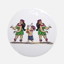 hUlA dAnCeRs Ornament (Round)