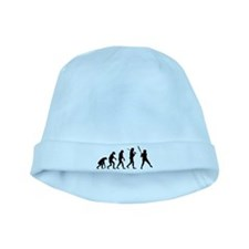 The Evolution Of The Softball Batter baby hat