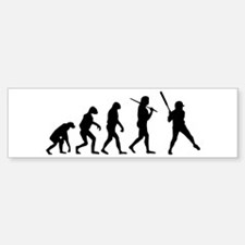The Evolution Of The Softball Batter Bumper Bumper Sticker