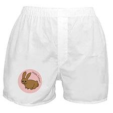 Pink Hoppy Easter Boxer Shorts