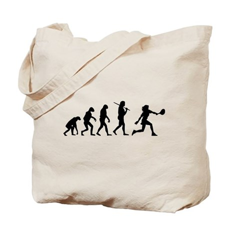 The Evolution Of The Woman Tennis Player Tote Bag