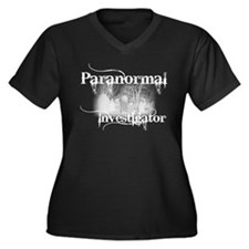 Funny Investigations Women's Plus Size V-Neck Dark T-Shirt