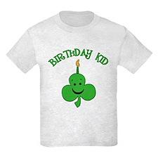Birthday Kid with Happy Shamrock T-Shirt