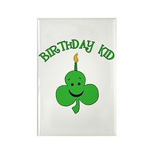 Birthday Kid with Happy Shamrock Rectangle Magnet