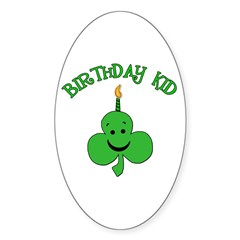 Birthday Kid with Happy Shamrock Decal