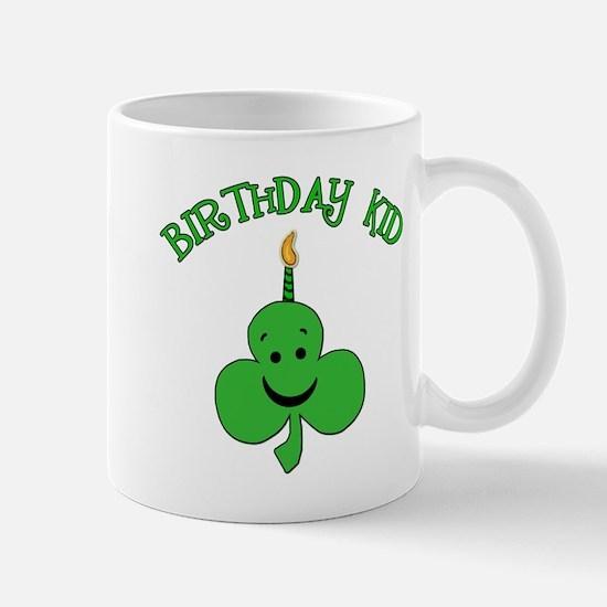 Birthday Kid with Happy Shamrock Mug