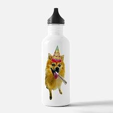 Pomeranian Birthday Water Bottle