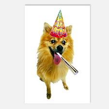 Pomeranian Birthday Postcards (Package of 8)