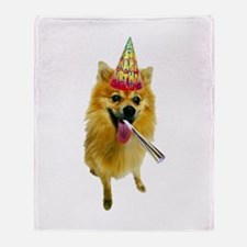 Pomeranian Birthday Throw Blanket