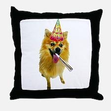 Pomeranian Birthday Throw Pillow