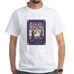Sunset Marsh Stained Glass White T-Shirt