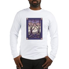 Sunset Marsh Stained Glass Long Sleeve T-Shirt