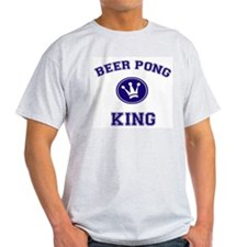 Beer Pong King Ash Grey T-Shirt