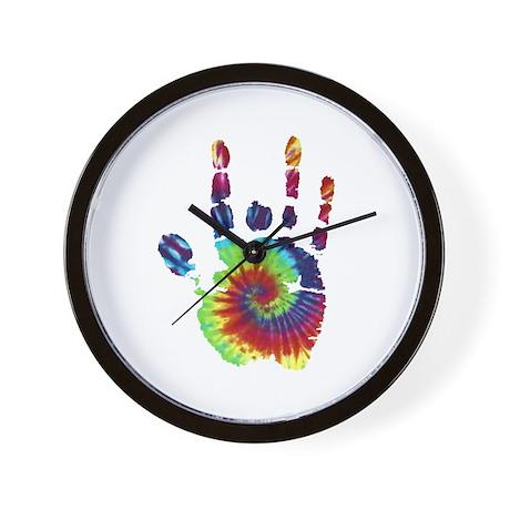 Tie Dye Jerry Hand Wall Clock