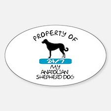Anatolian Shepherd Oval Decal