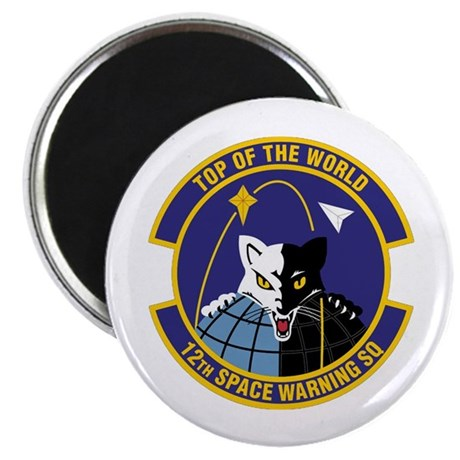 "12th Space Warning 2.25"" Magnet (10 pack)"