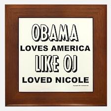 Obama & OJ Framed Tile