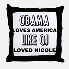 Obama & OJ Throw Pillow