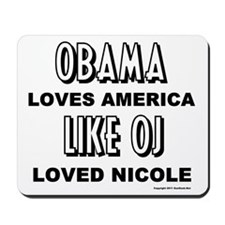 Obama & OJ Mousepad