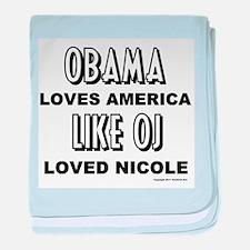 Obama & OJ baby blanket