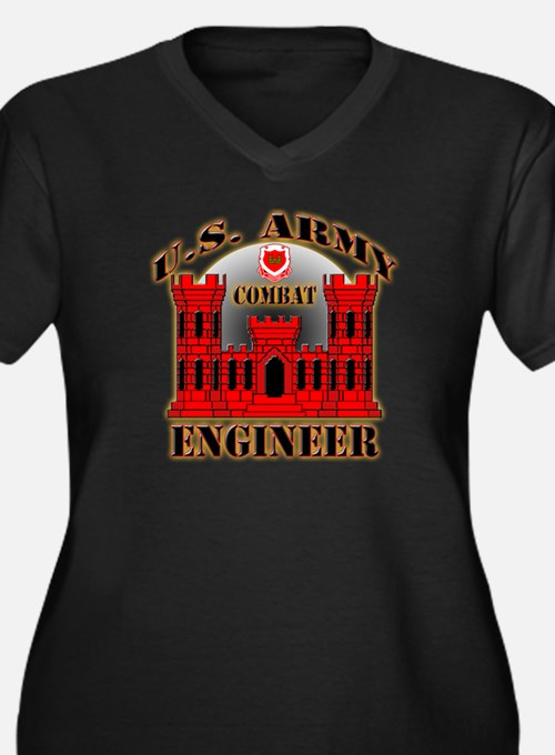 US Army Combat Engineer Women's Plus Size V-Neck D