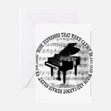Music Tshirt2 Greeting Cards