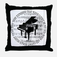 Cute Pianist Throw Pillow